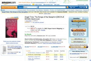 Screen shot of Angel Time at Amazon.