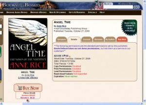 Screen shot of Angel Time at Books on Board.